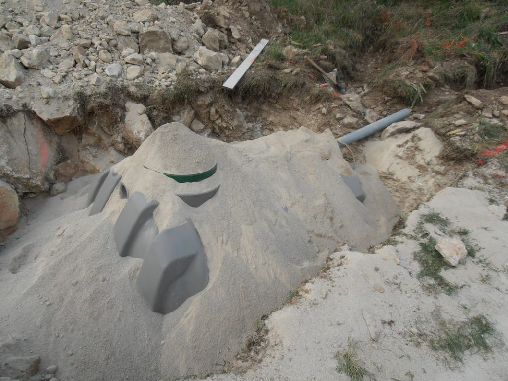 Enrobage sable de la fosse toute aux 3000L