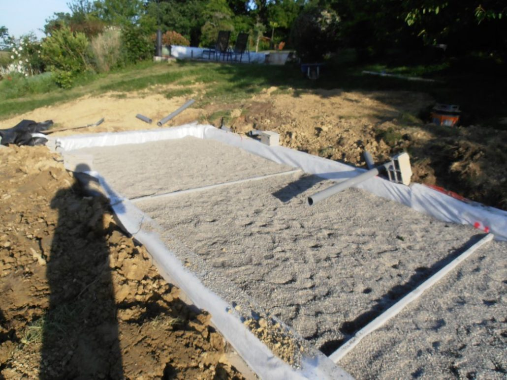 Filtre planté prêt pour la plantation