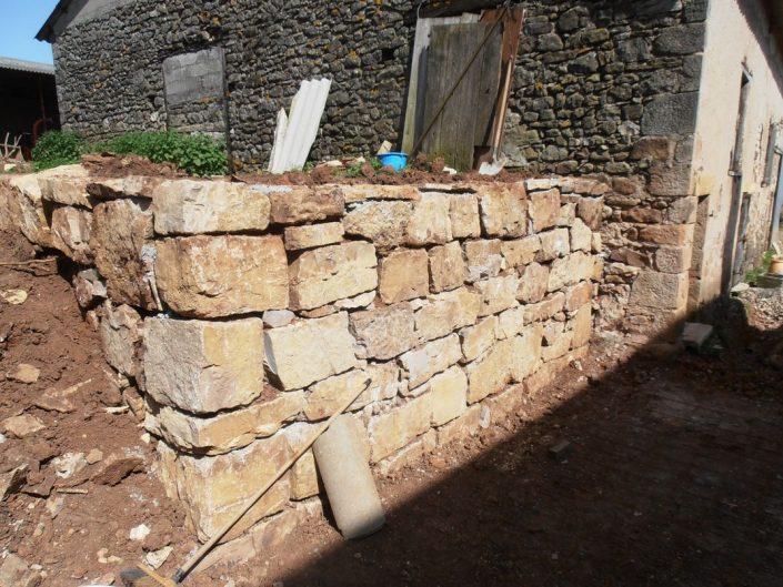 Petit enrochement - mur fini