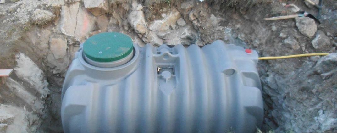 Pose d'une fosse toute eaux 3000L
