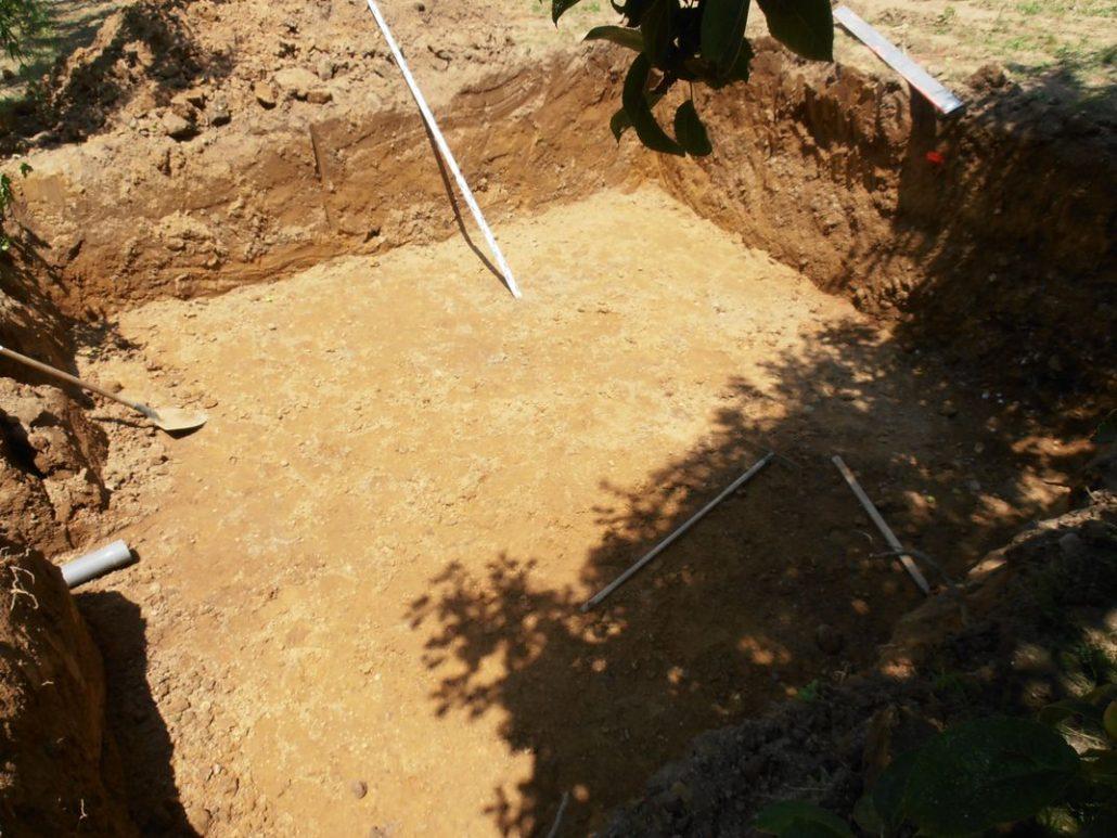 Terrassement d'un filtre à sable vertical de 25 m²